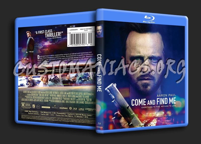 Come and Find Me blu-ray cover