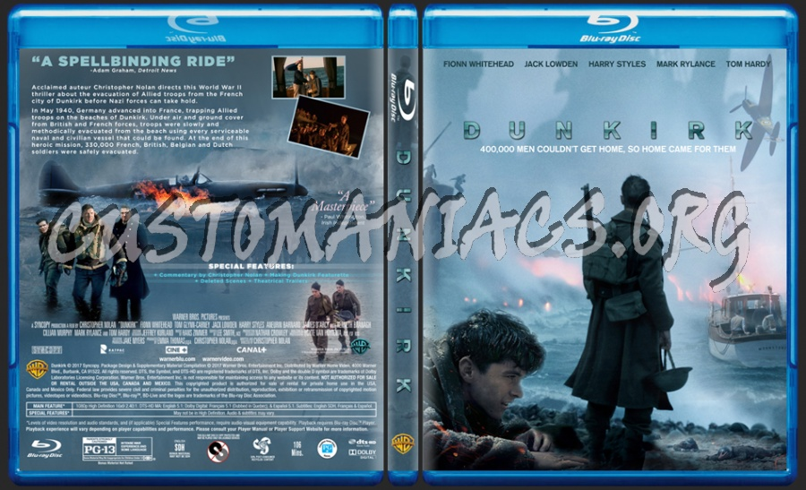 Dunkirk (2017) blu-ray cover