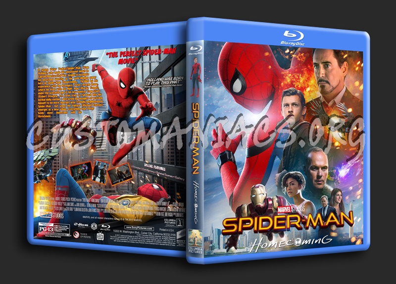 Spider-Man: Homecoming blu-ray cover