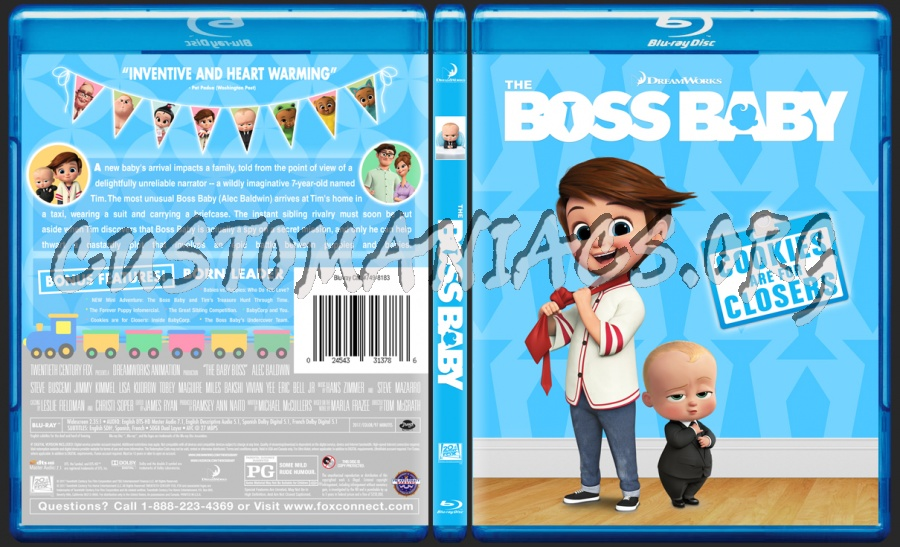 The Boss Baby Blu Ray Cover Dvd Covers Labels By Customaniacs Id 249002 Free Download Highres Blu Ray Cover