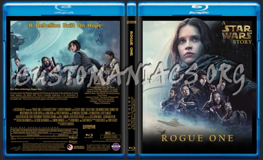 Star Wars - Rogue One blu-ray cover - DVD Covers & Labels by