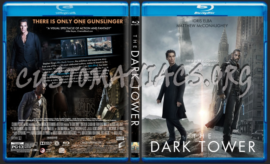 The Dark Tower blu-ray cover