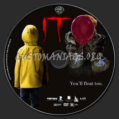 It (2017) dvd label