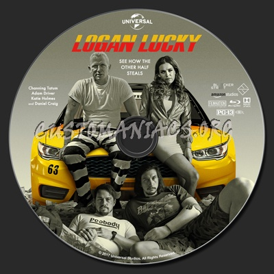 Logan Lucky blu-ray label