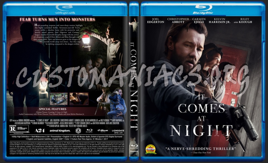 It Comes At Night blu-ray cover