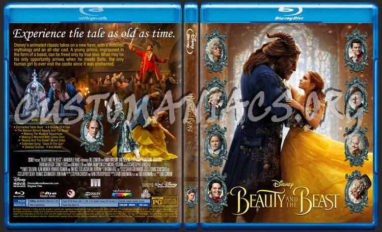 Beauty And The Beast 2017 blu-ray cover