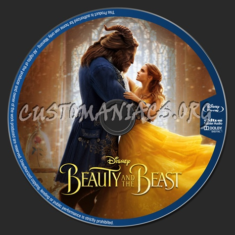Beauty And The Beast 2017 blu-ray label
