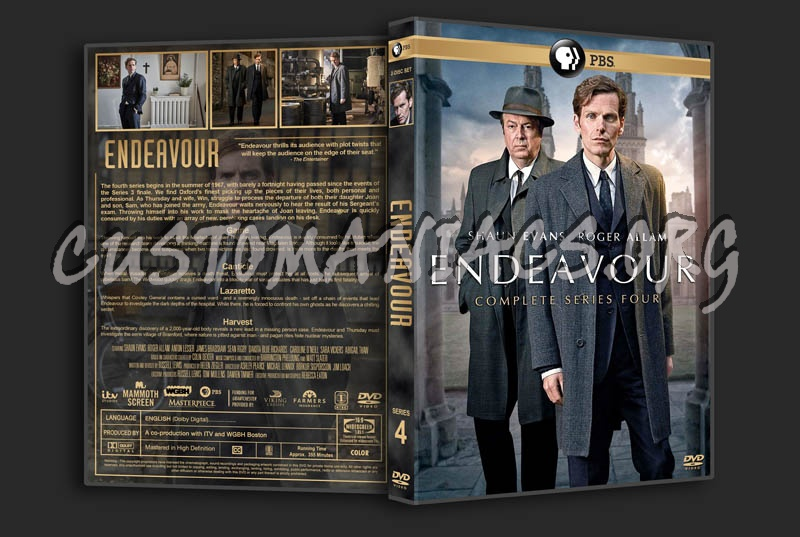 Endeavour - Series 4 dvd cover