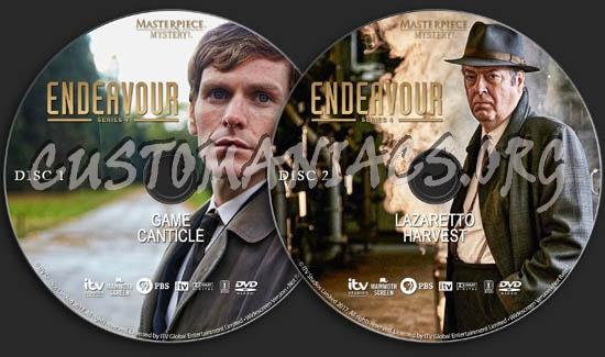 Endeavour - Series 4 dvd label