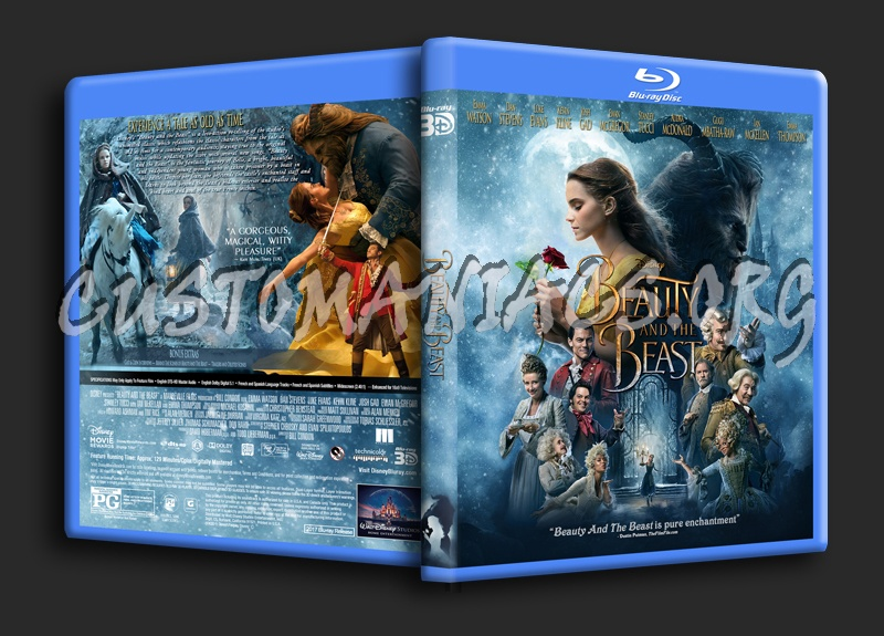 Beauty And The Beast 2017 3d Blu Ray Cover Dvd Covers Labels