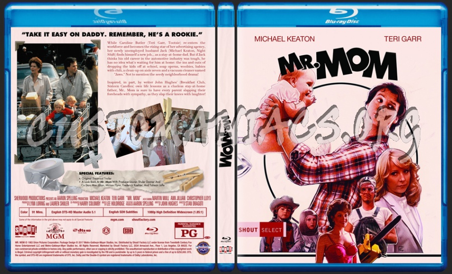 Mr. Mom blu-ray cover