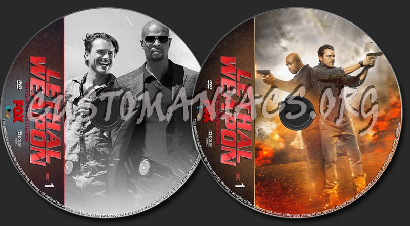 Lethal weapon Seasons 1-2 dvd label