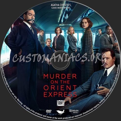 Murder On The Orient Express 2017 dvd label