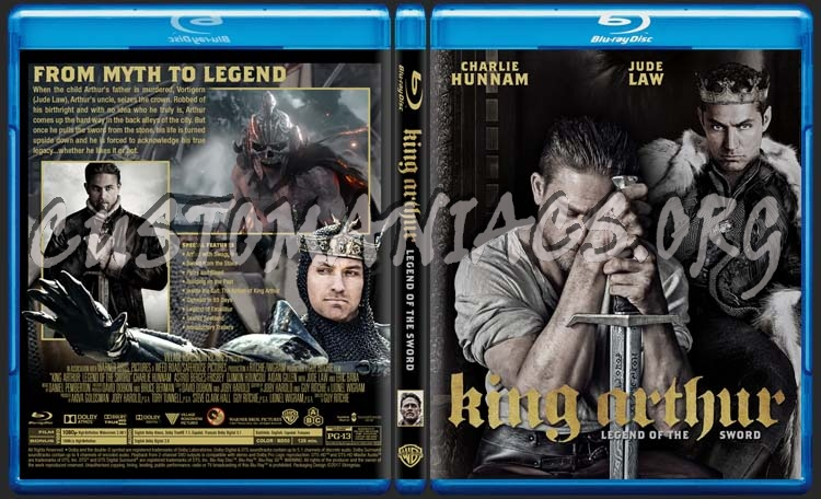 King Arthur Legend Of The Sword blu-ray cover