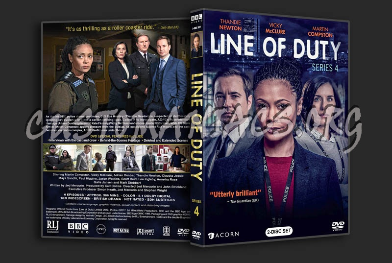 Line of Duty - Series 4 dvd cover