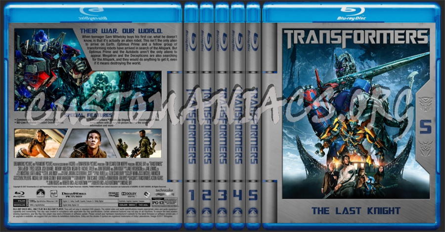 Tranformers Collection blu-ray cover