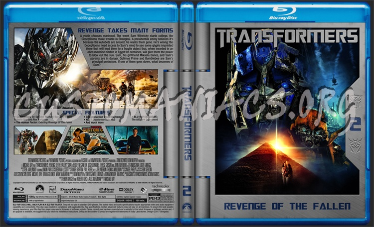 Transformers: Revenge of the Fallen blu-ray cover