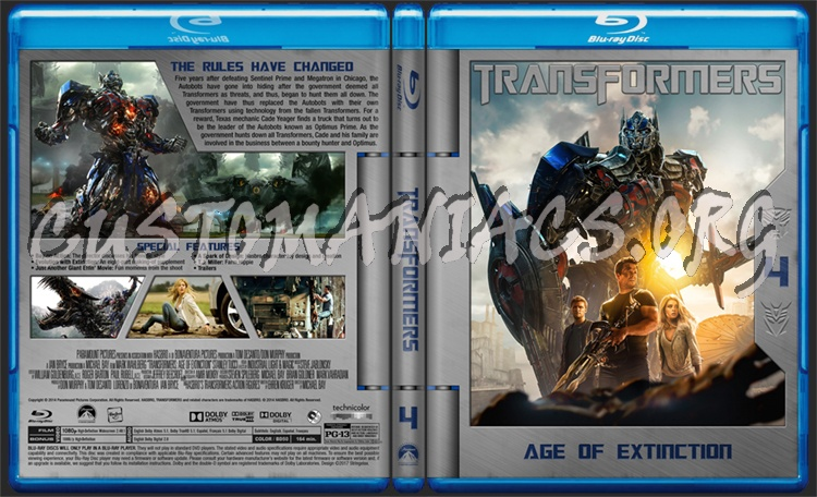 Transformers: Age of Extinction blu-ray cover