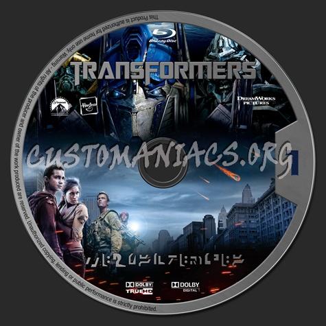 Transformers blu-ray label