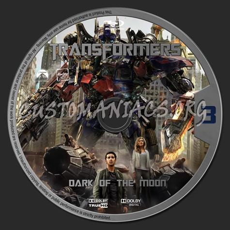 Transformers: Dark of the Moon blu-ray label
