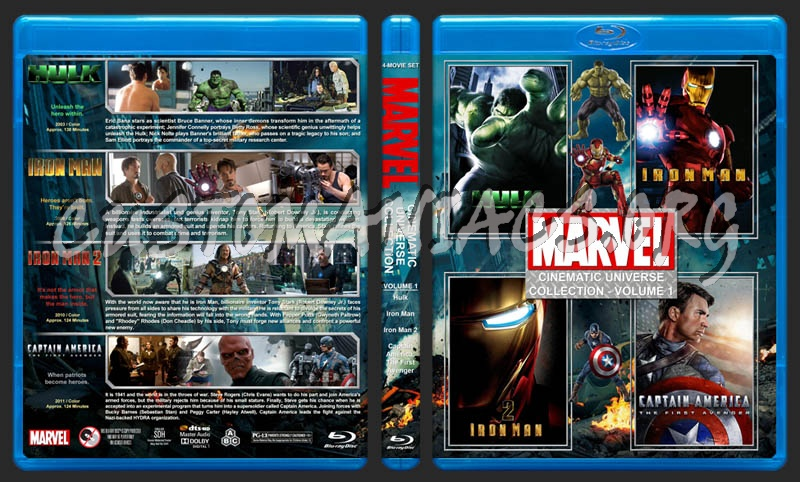 The Marvel Cinematic Universe Collection - Volume 1 blu-ray