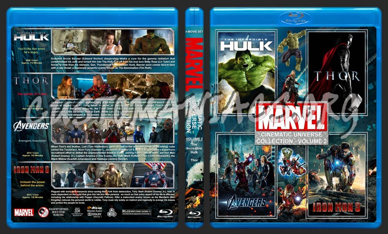 The Marvel Cinematic Universe Collection - Volume 2 blu-ray cover