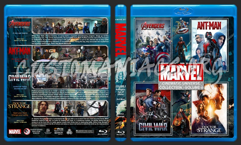 The Marvel Cinematic Universe Collection - Volume 4 blu-ray cover