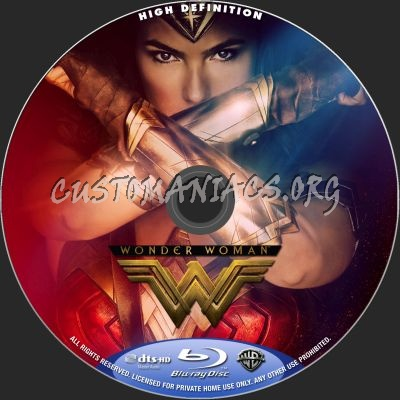 Wonder Woman blu-ray label