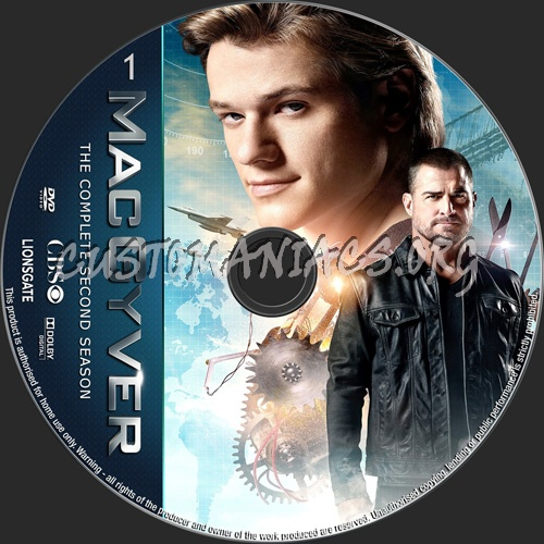 MacGyver Season 2 dvd label