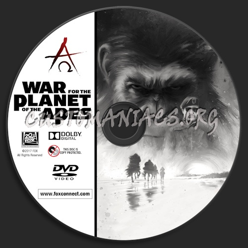 War For The Planet Of The Apes dvd label