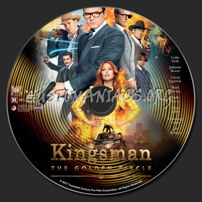 Kingsman: The Golden Circle dvd label