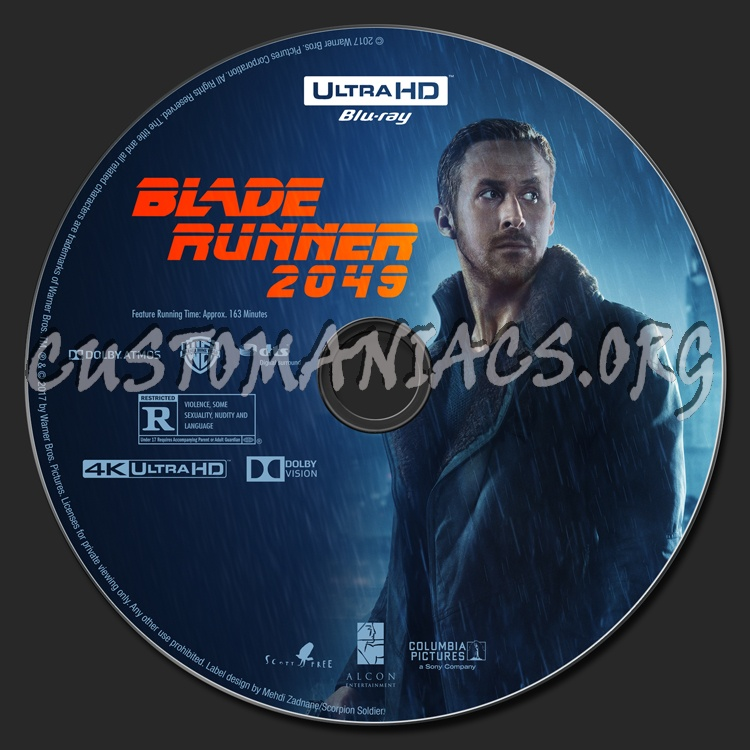 Blade Runner 2049 (2D/3D/4K) blu-ray label