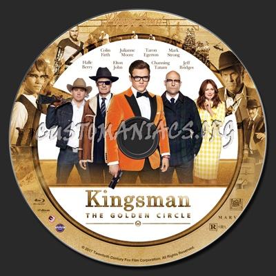 Kingsman: The Golden Circle blu-ray label