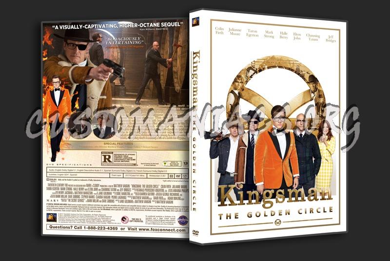 Kingsman: The Golden Circle dvd cover