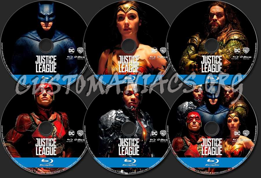 Justice League (2017) (Blu-Ray + 3D) blu-ray label