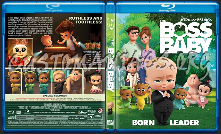 The Boss Baby Blu Ray Cover Dvd Covers Labels By Customaniacs Id 249528 Free Download Highres Blu Ray Cover