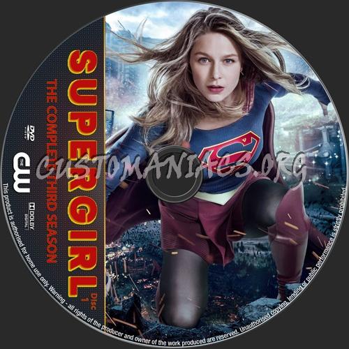 Supergirl Season 3 dvd label