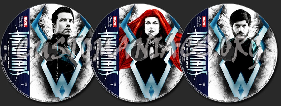 Inhumans Season 1 dvd label