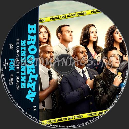 Brooklyn Nine-Nine Season 5 dvd label