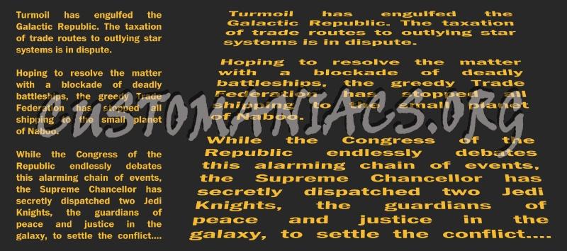 Star Wars - Opening Crawls (Custom Shapes)