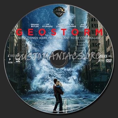 Geostorm dvd label