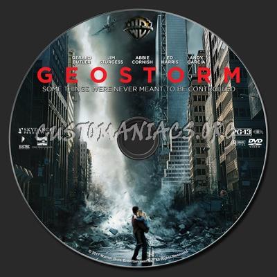 Geostorm dvd label