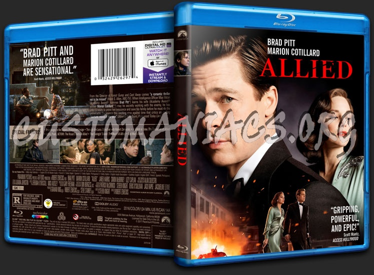 Allied blu-ray cover