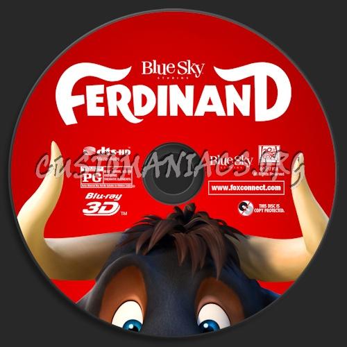 Ferdinand (Blu-ray + 3D) blu-ray label