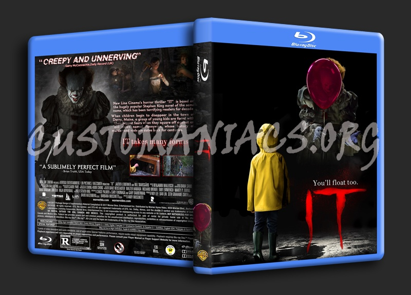 It (2017) blu-ray cover