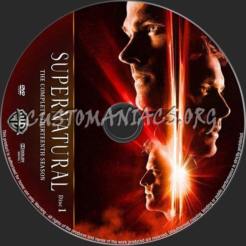 Supernatural Season 13 dvd label