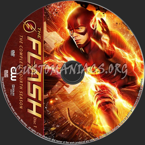 The Flash Season 4 dvd label