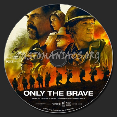 Only The Brave (2017) dvd label