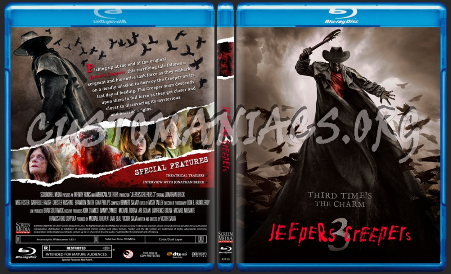 Jeepers Creepers 3 blu-ray cover
