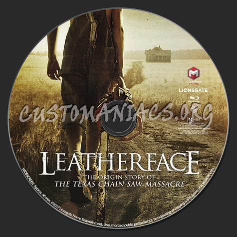 Leatherface (2017) blu-ray label